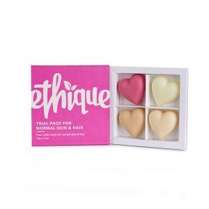 Ethique sample pack sampler shampoo conditioner bars skin normal hair