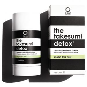 the takesumi Detox Natural charcoal deodorant in English Lime mint