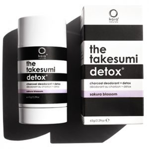 the takesumi Detox Natural charcoal deodorant in sakura blossom
