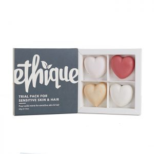 Ethique Sensitive Trial Sampler Pack Skin Hair unscented shampoo bar conditioner bar cleanser deodorant