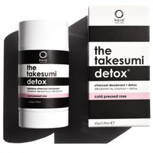 Kaia Naturals the takesumi detox cold pressed rose charcoal deodorant